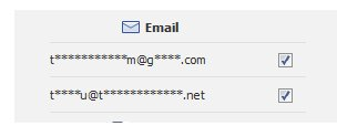 Replacing characters in email address with *